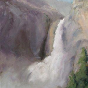 Born of Clouds, Lower Yosemite Falls, Cristine Crozier, Oil