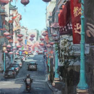 Chinatown Orbs, Cathy Boyer, Oil