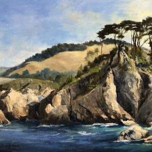Cliffs at Blue Fish Cove, LaRhee Webster, Oil