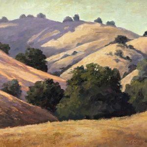 Golden Hills and Oaks, LaRhee Webster, Oil