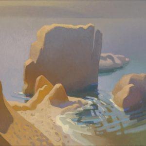Golden Morning at Shell Beach, Carolyn Lord, Oil