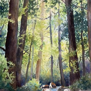 Into the Woods, Marie Gabrielle, Watercolor