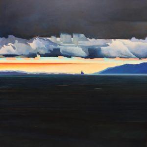 Moss Landing Sunrise, Charles Prentiss, Oil