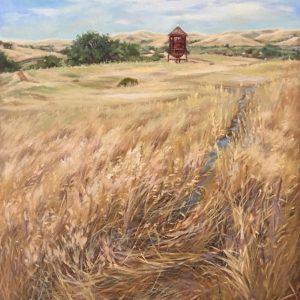 Mt. Diablo Golden Field, Amy Leung, Oil