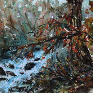 Plein Air at Wildwood Park Saratoga CA, Xueling Zou, Watercolor