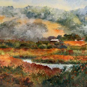 Scott Creek, Marie Gabrielle, Watercolor