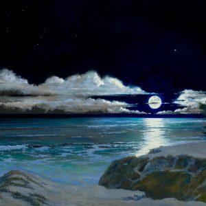 Venus Moon Meditation II, Edward G. Penniman, Oil