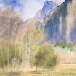 Yosemite in the Fall, Robin Scholl, Watercolor
