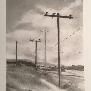 Last Pole Standing by Patricia Moretti, graphite pencil, 2019