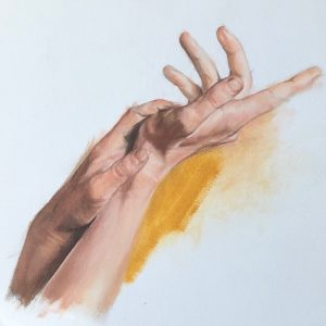 Hand Study by Susie Wilson, Oil, 2020
