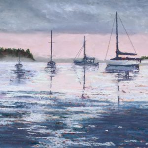 Mooring Out by Amy Martin, Pastel