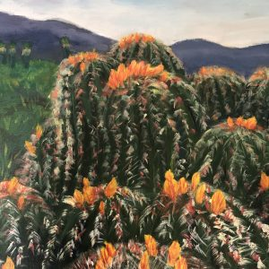 Barrel Cacti by Christine Z. Mason, Acrylic, 2018