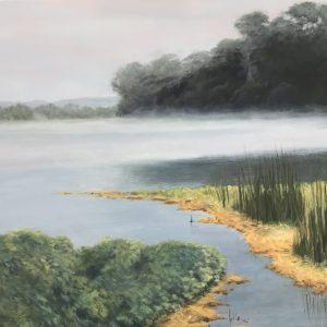 Santa Cruz Lagoon by Denise Natanson Marcus, Oil on canvas
