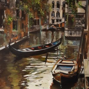 Canal Venice by Thalia Stratton, Oil on Canvas, 2020