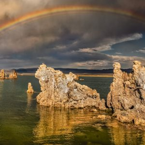 Mono Lake Rainbow by Cad Williams, photography, 2020