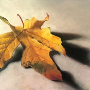 Fall Maple Leaf by Pat O'Connell, Pastel, 2020