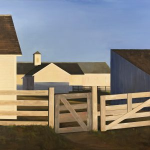 Historic Barns at Point Reyes by LaRhee Webster, oil, 2019