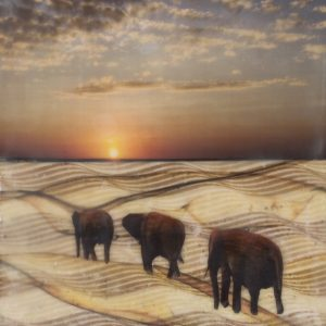 Serengeti Stroll by Janette Sargent-Hamill, Encaustic Mixed Media, 2018