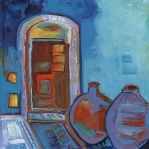 Mystery Door by Cynthia Martin Kroener, Acrylic on canvas