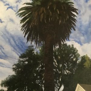 Palm Tree on Broadway by Pat O'Connell, Oil, 2019
