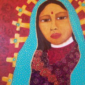 Virgen India de las Cruces by Laura A Spiegel, Acrylic