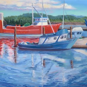 Harbor In Evening Light, Newport OR by Anna Lee Steed, Oil, 2019