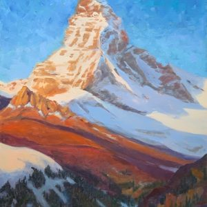 Matterhorn In Autumn by Anna Lee Steed, Oil, 2020
