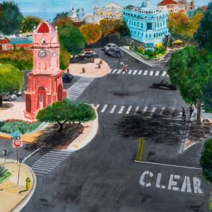 Downtown Santa Cruz by Susan Brown, Acrylic, 2019