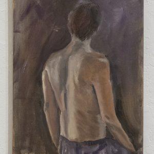 #1 Looking Back by Richard Klevins, Oil