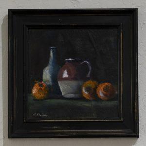 #14 Purple Jug and Oranges by Richard Klevins, Oil