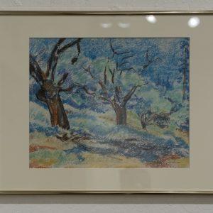 #18 Black Oaks in the Sierra Foothills by Ralph Joachim, Pastel