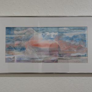 #21 Misty Glacier by Vivienne Andres, Watercolor