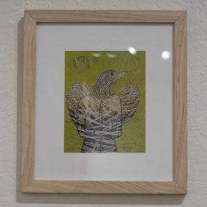 #23 Gold Bird Spirit by Linda Fillhardt, Mixed Media