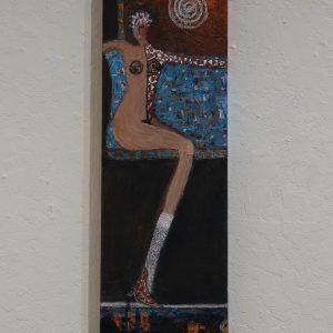 #26 Lady in Waiting by Jenni Fox, Acrylic