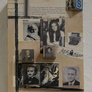 #42 Writer's Block by Lynne Todaro, Mixed media on panel