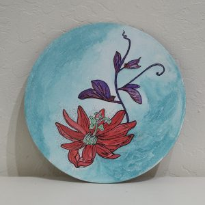 #43 Floating passionflower by Rica Smith, Mixed Media