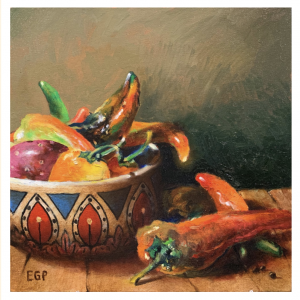 #50 Diaz Peppers by Ed Penniman, Giclee on Canvas