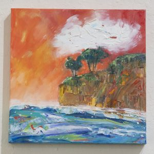 #55 Sunset Cliff by Wendy Laird, Acrylic