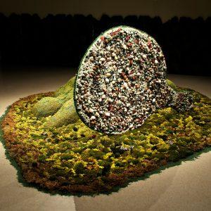 "<b>Amalia Mesa-Bains</b> <i>Mother Nature/ back view</i>, installation,  14.4"" x 21.6, 1997"