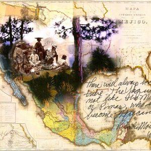 "<b>Amalia Mesa-Bains</b> <i>Yaqui Map</i>, print, 12"" x 9"", 2018"