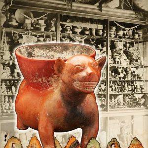 "<b>Amalia Mesa-Bains</b> <i>Wunderkammer Collection:  Journey to Mictlan</i>, print, 26"" x 32"", 201"