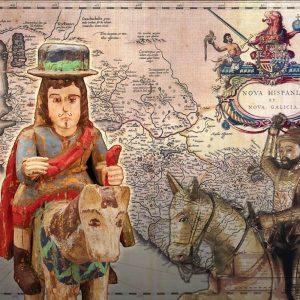 "<b>Amalia Mesa-Bains</b> <i>The Wunderkammer Collection:  Map of Loss</i>, print, 26"" x 32"", 2013"