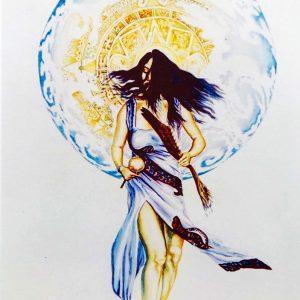 "<b>Guillermo Aranda</b> <i>Dance of Balance</i>, watercolor, 12"" x 10"", 2000"