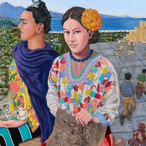 "<b>Ralph James D'Oliveira</b> <i>Flower Girls</i>, acrylics, 48 x 36"", 2009"