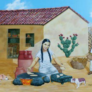 """<b>Ralph James D'Oliveira</b> <i>El Rancho El Charquito restaurant</i>, acrylics, 36"""" x 48"""", 2014"""