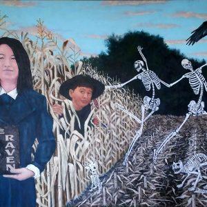 "<b>Ralph James D'Oliveira</b> <i>Children of the corn</i>, acrylics, 24"" x 36"", 2016"