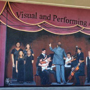 <b>Ralph James D'Oliveira</b> <i>Rio Vista Middle School Mural El Rio, California</i>, acrylics, 12ft x 30ft, 2019