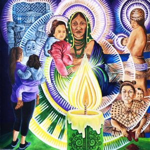 <b>Guillermo Aranda</b> <i>Mother and Child/Mural Detail</i>, acrylics, 12 ft x 12 ft, 2020