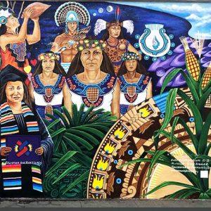 <b>Guillermo Aranda:</b> Society's Light/Mural, acrylics, 12 ft x 76 ft, 2021