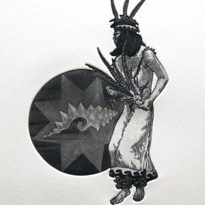 "<b>Guillermo Aranda</b> <i>Star Dancer</i>, intaglio print, 14"" x 8"", 1988"
